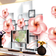 客厅3d电视背景墙装修创意图