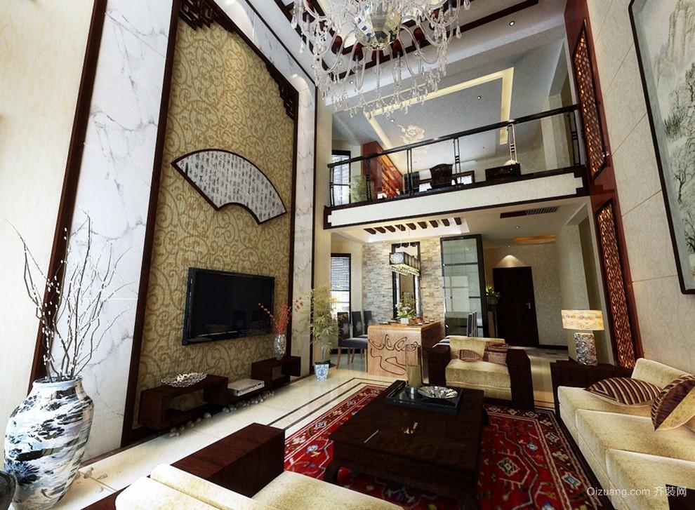 颜色浓重而成熟的中式客厅装修效果图大全