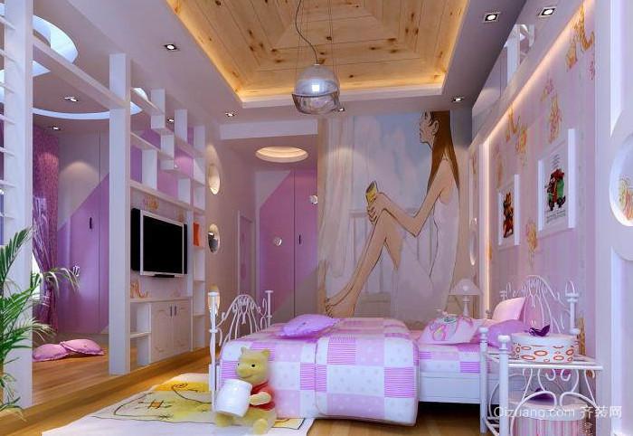小巧可爱清新的女生卧室装修效果图
