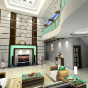 跃层客厅装修效果图