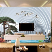 客厅3d电视背景墙装修现代图