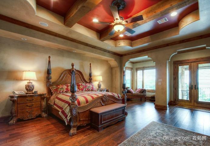 三室一厅美式经典卧室装修效果图