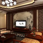中式客厅背景墙造型图
