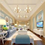 地中海风格客厅装修灯光设计