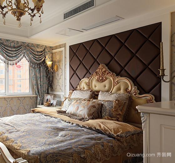 50平米简欧风格卧室软包床头背景墙装修