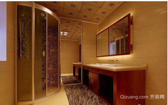 中式别墅卫生间装修效果图