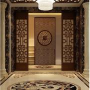 中式风格鞋柜装修背景墙图