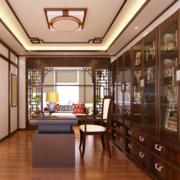 现代书房装修模板