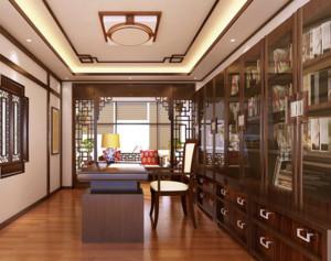 精心设计的中式金典书房装修效果图
