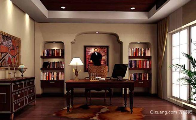 气派的美式风格书房设计效果图鉴赏