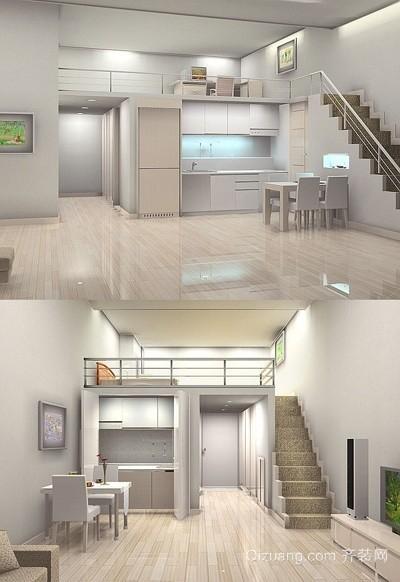 清凉一夏 简约白色单身公寓装修效果图