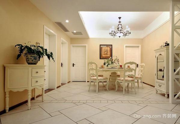 小户型精美室内地板拼花装修设计效果图