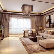 客厅唯美窗帘设计
