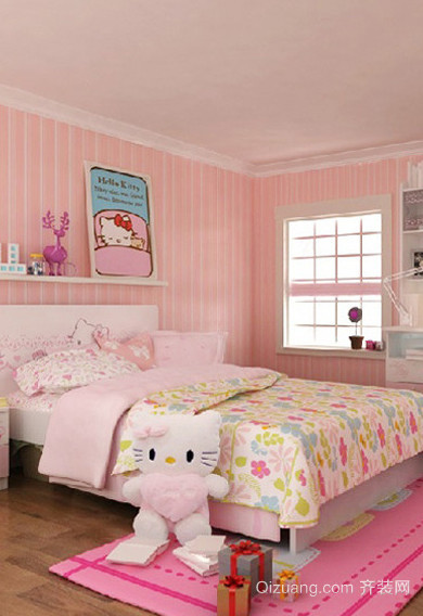 清新甜美的现代风格儿童房设计效果图鉴赏