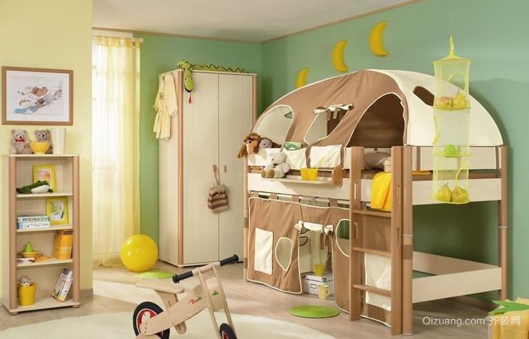 美丽花园般的田园儿童房设计效果图鉴赏