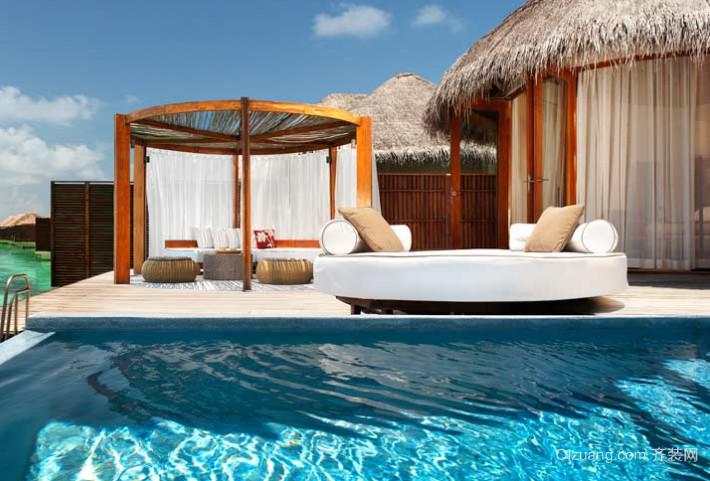 马尔代夫特色水上休闲木屋装修效果图