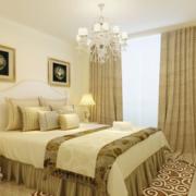 卧室窗帘装修背景墙图