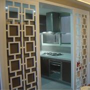 厨房推拉门装修实景图