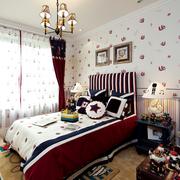 儿童卧室背景墙装修色调搭配