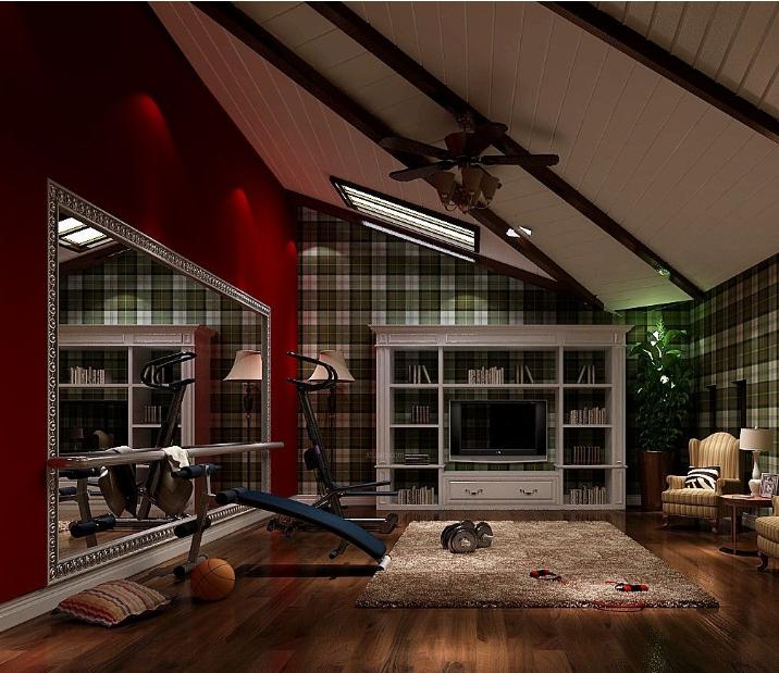 美式 风格 斜顶 阁楼装修效果图 齐装网装修效果