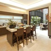 开放式厨房装修设计整体图