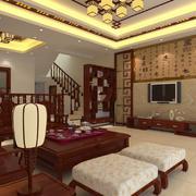 中式唯美客厅设计