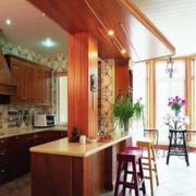 开放式厨房装修设计效果图