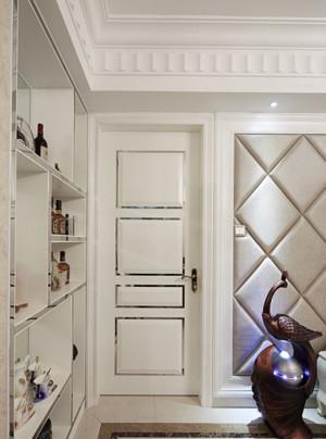 纯色调卧室门设计
