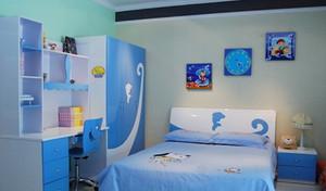 活泼可爱的蓝色儿童房房设计效果图鉴赏