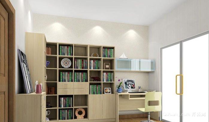 两室一厅新式现代书房装修效果图