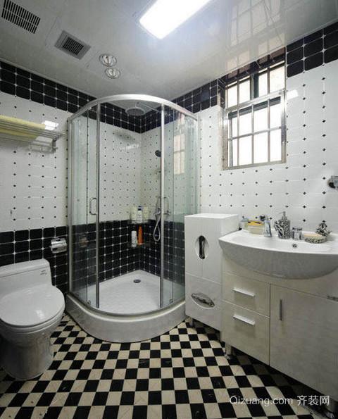 2015绝美设计的大户型洗手间装修效果图