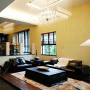 暖色调客厅背景墙图
