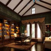 唯美色调书房设计