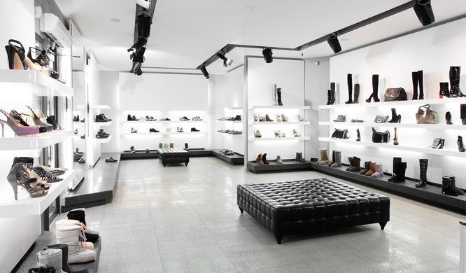 時尚 高端 的 女鞋 店面鞋柜裝修效果圖 齊裝網裝