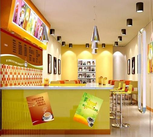 大型超市中小型 奶茶店水吧 装修效果图 齐装网