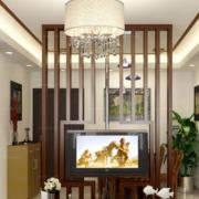 客厅实木隔断设计