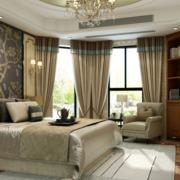 卧室窗帘装修整体图