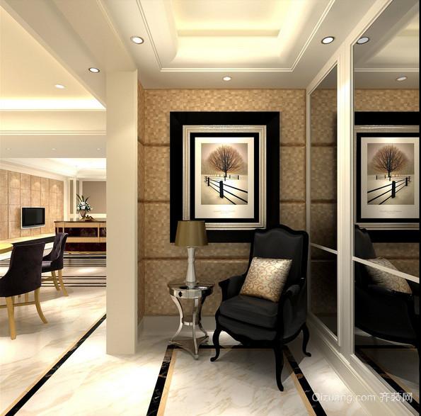 视觉感超好的大户型现代进门玄关装修效果图