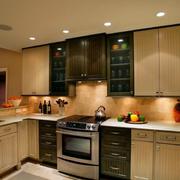 开放式厨房装修设计唯美图