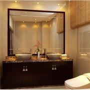 中式风格卫生间装修背景墙图