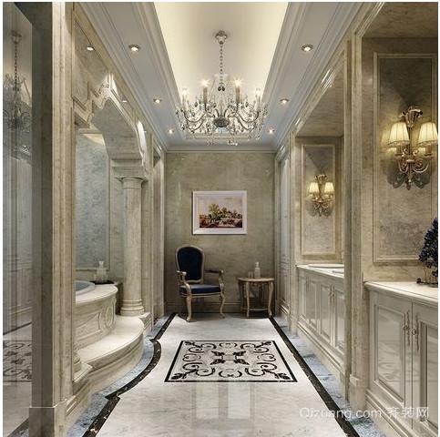 欧式别墅卫生间装修效果图