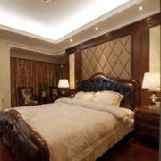 卧室床头背景墙装修造型图