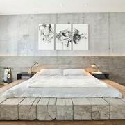 单身公寓卧室图