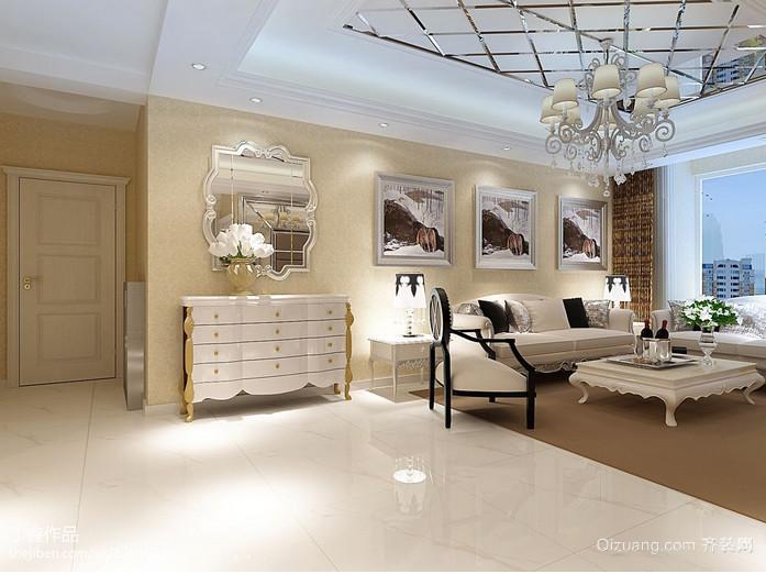 欧式别墅客厅玄关装修效果图