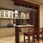 厨房精致的桌椅图