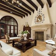 地中海风格客厅装修造型图