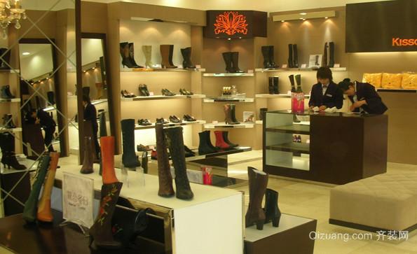 时尚高端的女鞋店面鞋柜装修效果图