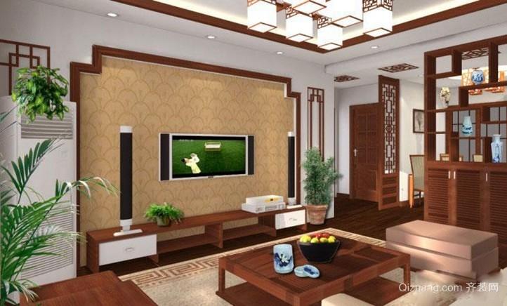 传递文化魅力 优雅中式客厅装修效果图大全