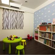 唯美书房背景墙造型图