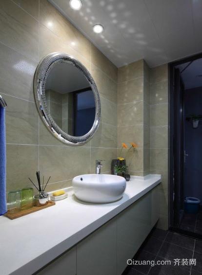 现代简约风格卫生间台盆柜效果图